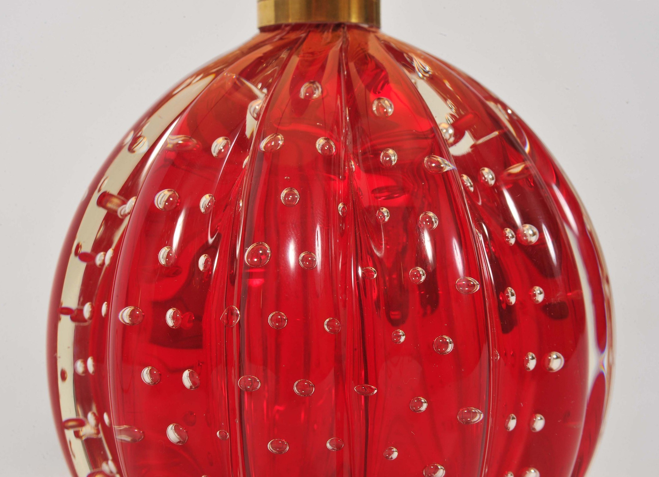 Valerie Wade Lt668 Pair 1950S Red Murano Ball Lamps 03