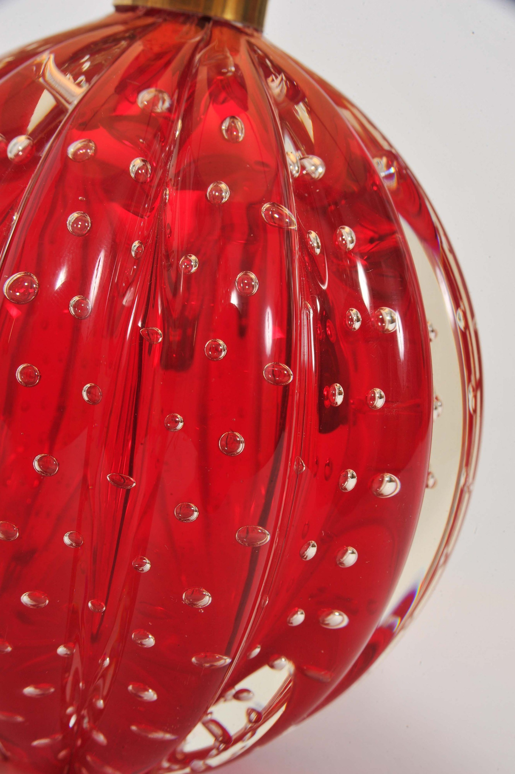 Valerie Wade Lt668 Pair 1950S Red Murano Ball Lamps 04