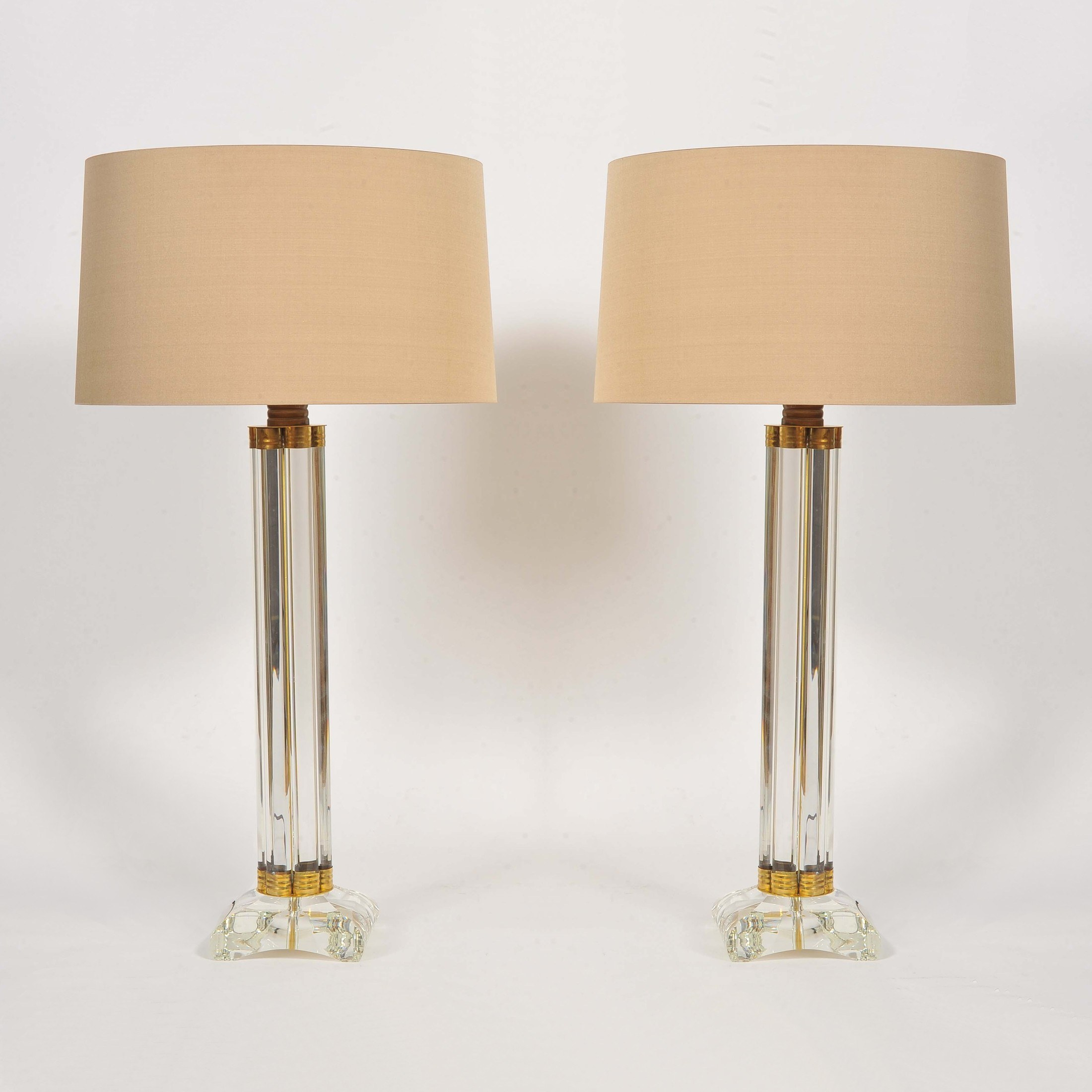 The image for Valerie Wade Lt674 Pair Italian Murano Glass Column Lamps 01