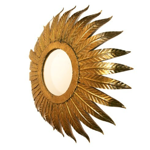Valerie Wade Lw097 1980S Italian Sunburst Mirror Light 02