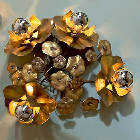The image for Valerie Wade Lw100 Quadruple Lotus Flower Wall Lights 01