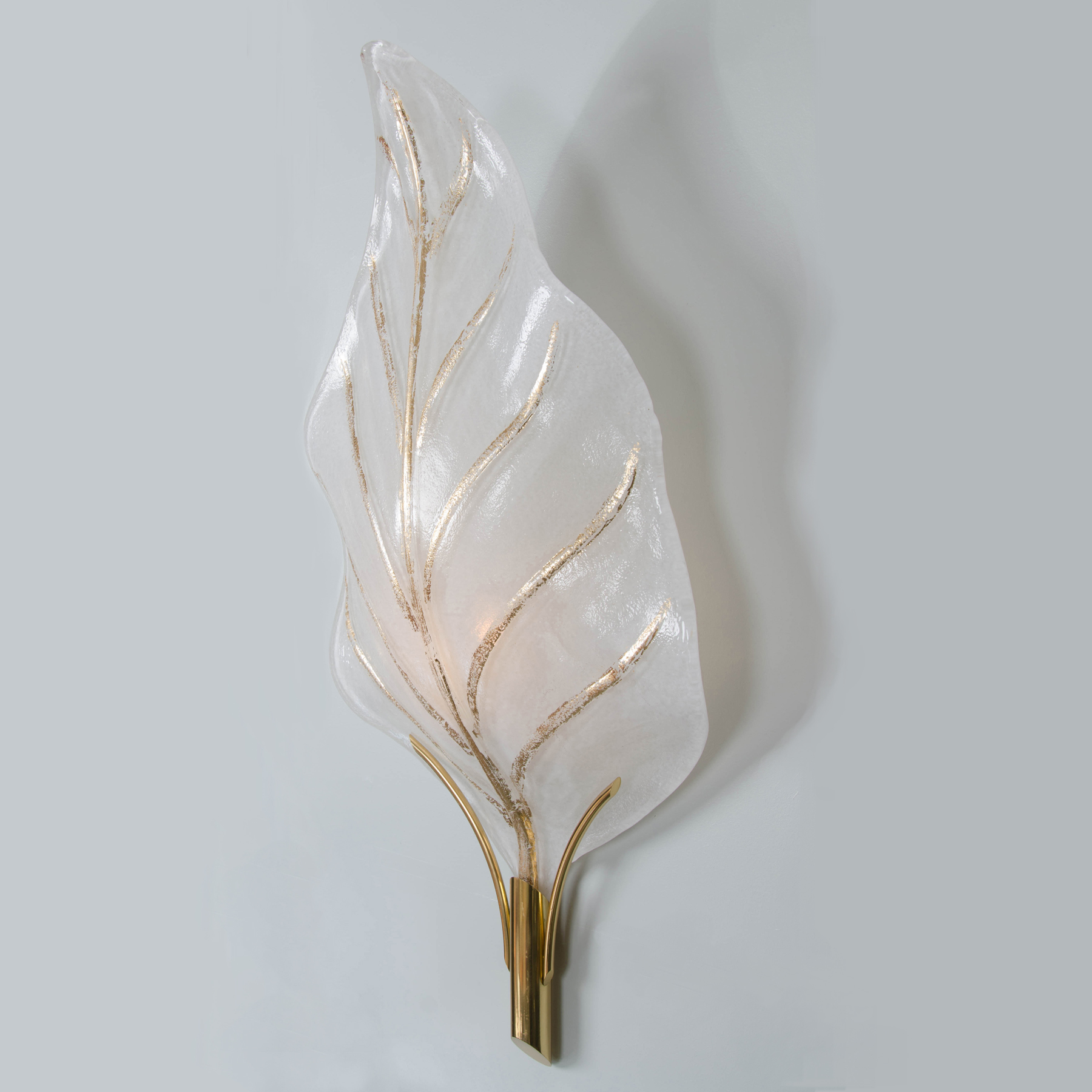 Valerie Wade Lw362 Murano Glass Leaf Wall Lights 04
