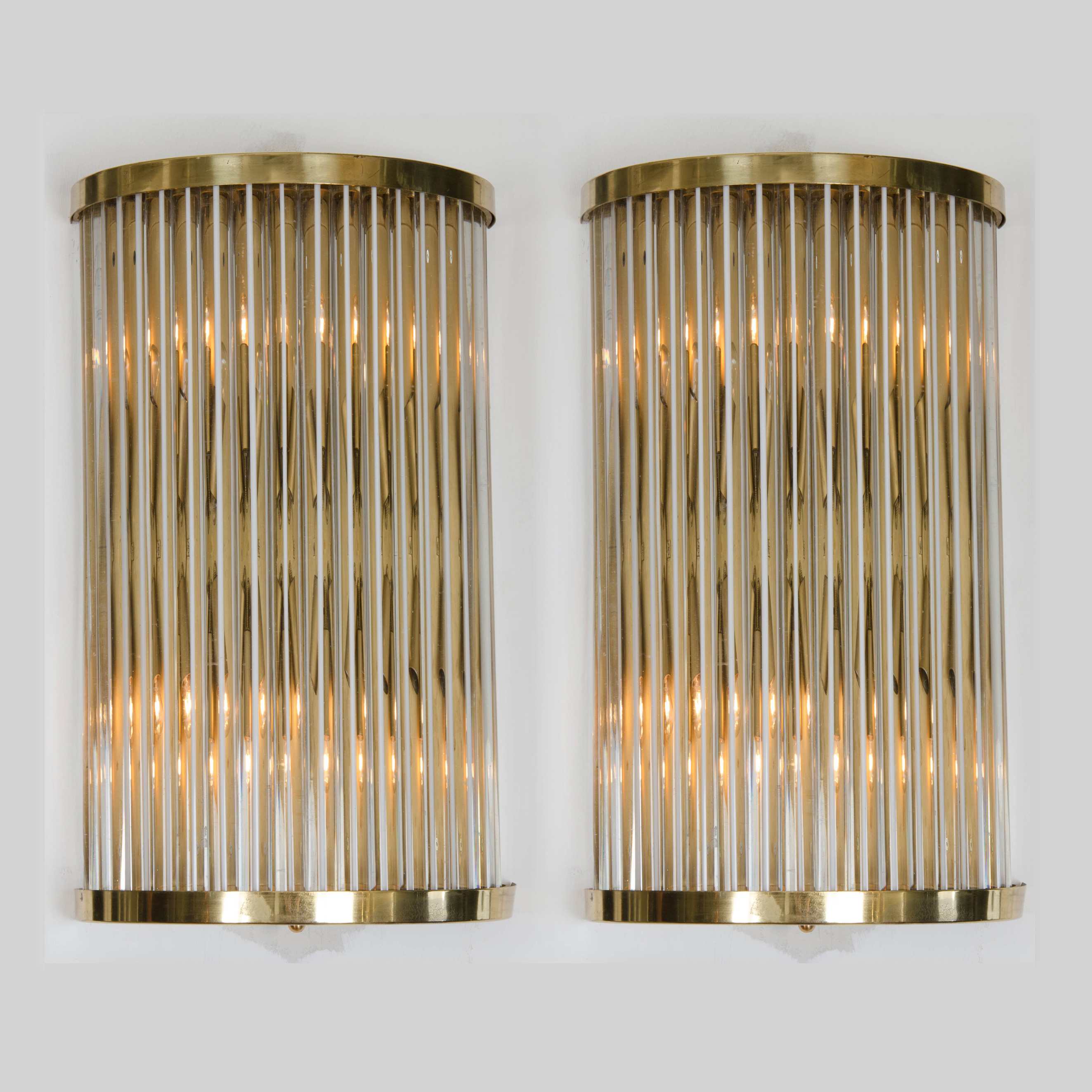 Pair of deco murano wall lights valerie wade pair of deco murano wall lights mozeypictures Gallery