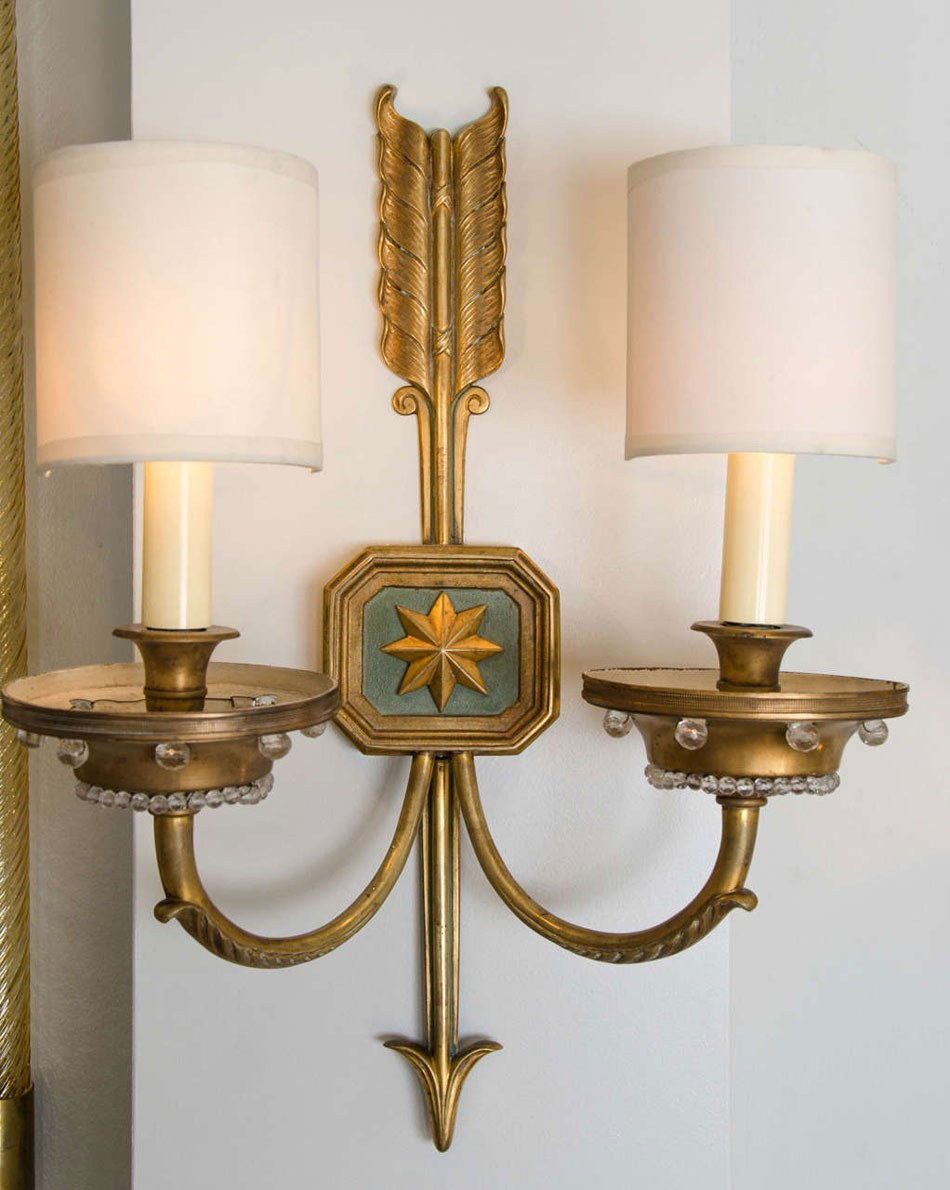 Valerie Wade Lw413 1930S French Times Arrow Wall Lights 02