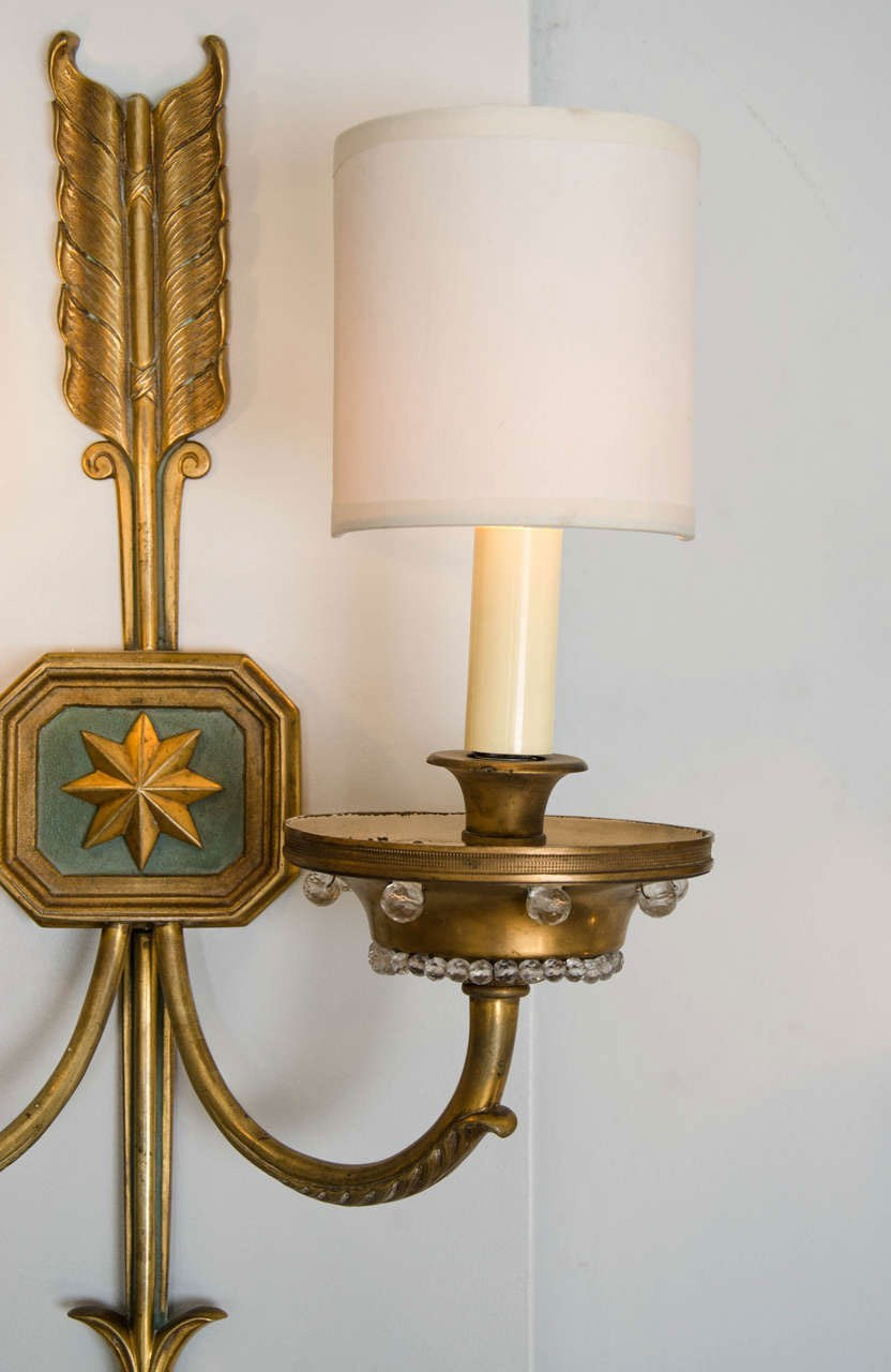 Valerie Wade Lw413 1930S French Times Arrow Wall Lights 04