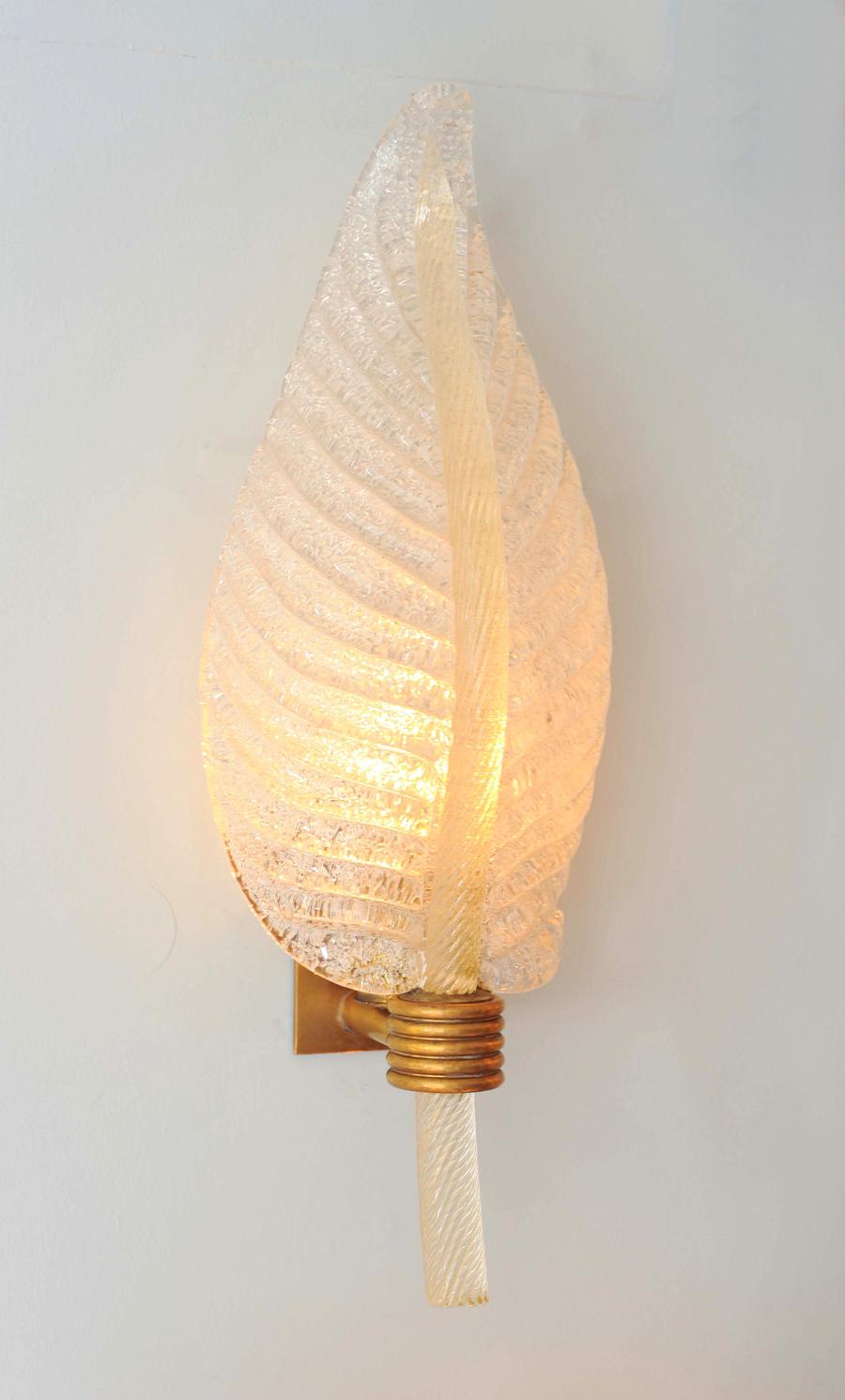 Valerie Wade Lw608 Pair 1950S Italian Leaf Wall Lights 02
