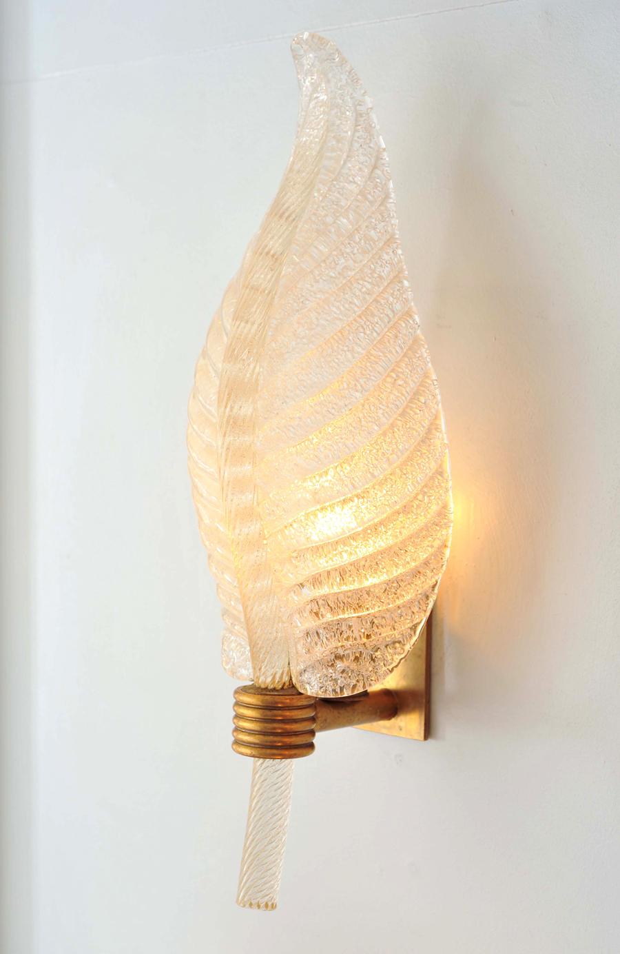 Valerie Wade Lw608 Pair 1950S Italian Leaf Wall Lights 03