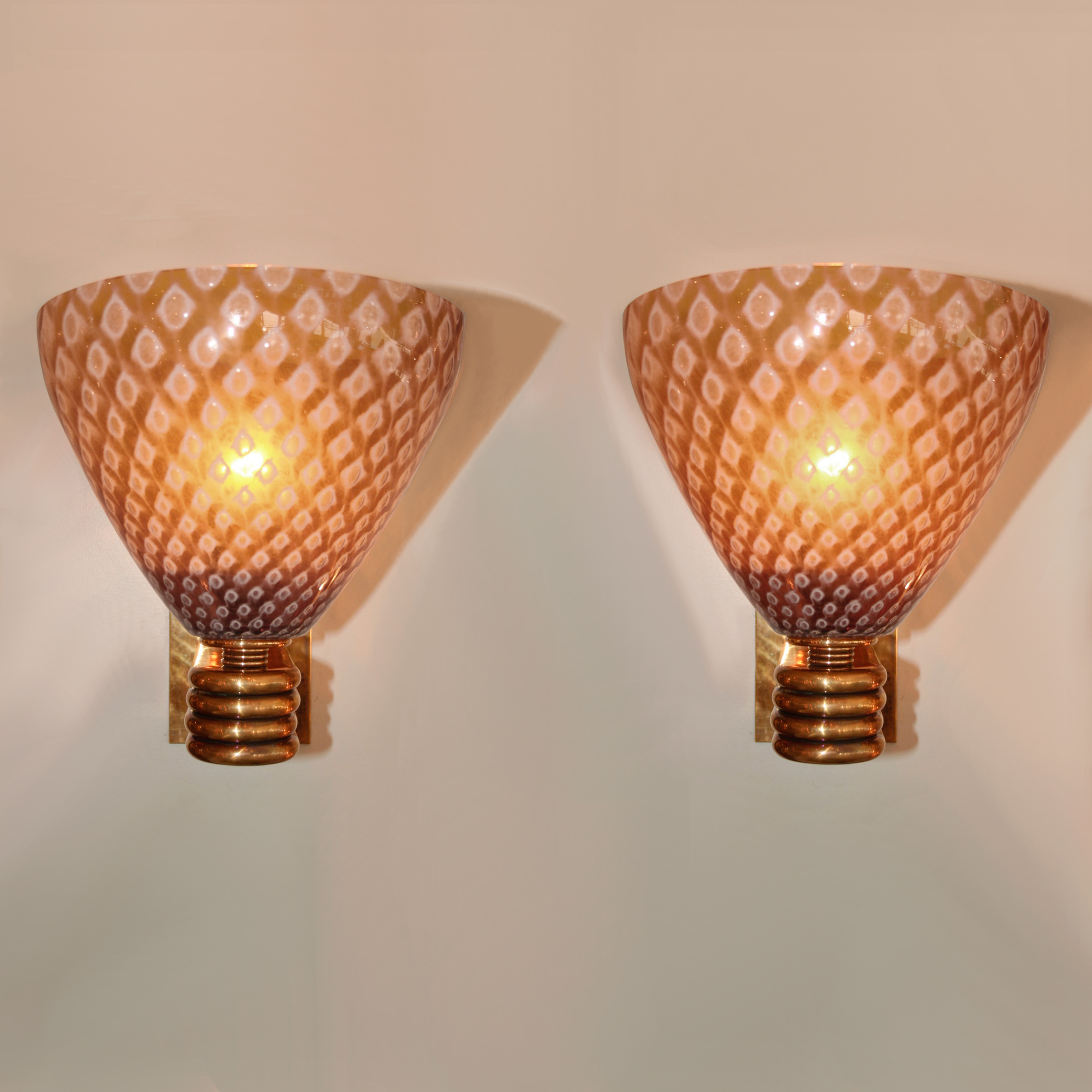 The image for Valerie Wade Lw642 Italian Caramella Wall Lights 01