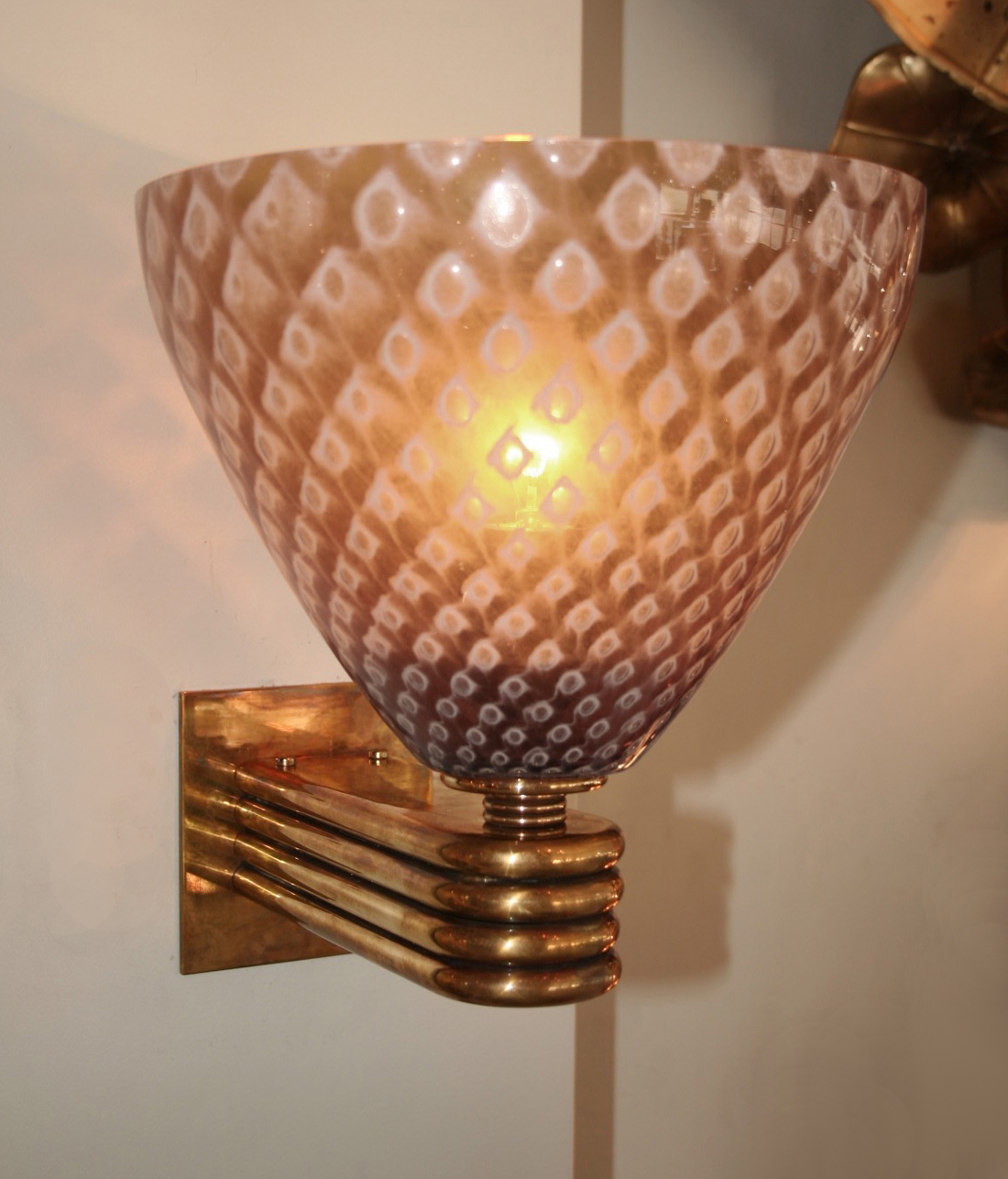 The image for Valerie Wade Lw642 Italian Caramella Wall Lights 02