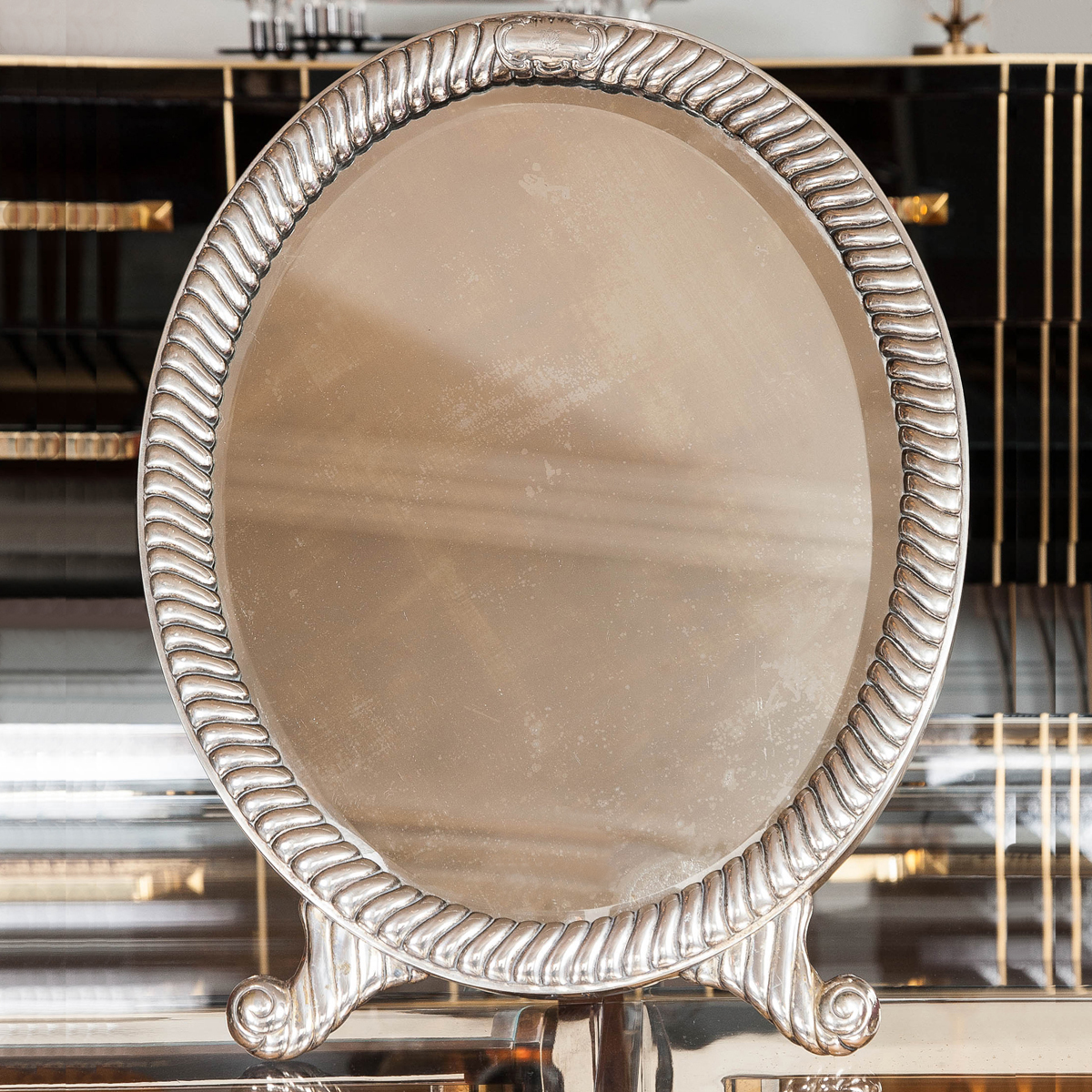 The image for Valerie Wade Mt548 1930S Oval Table Mirror 01