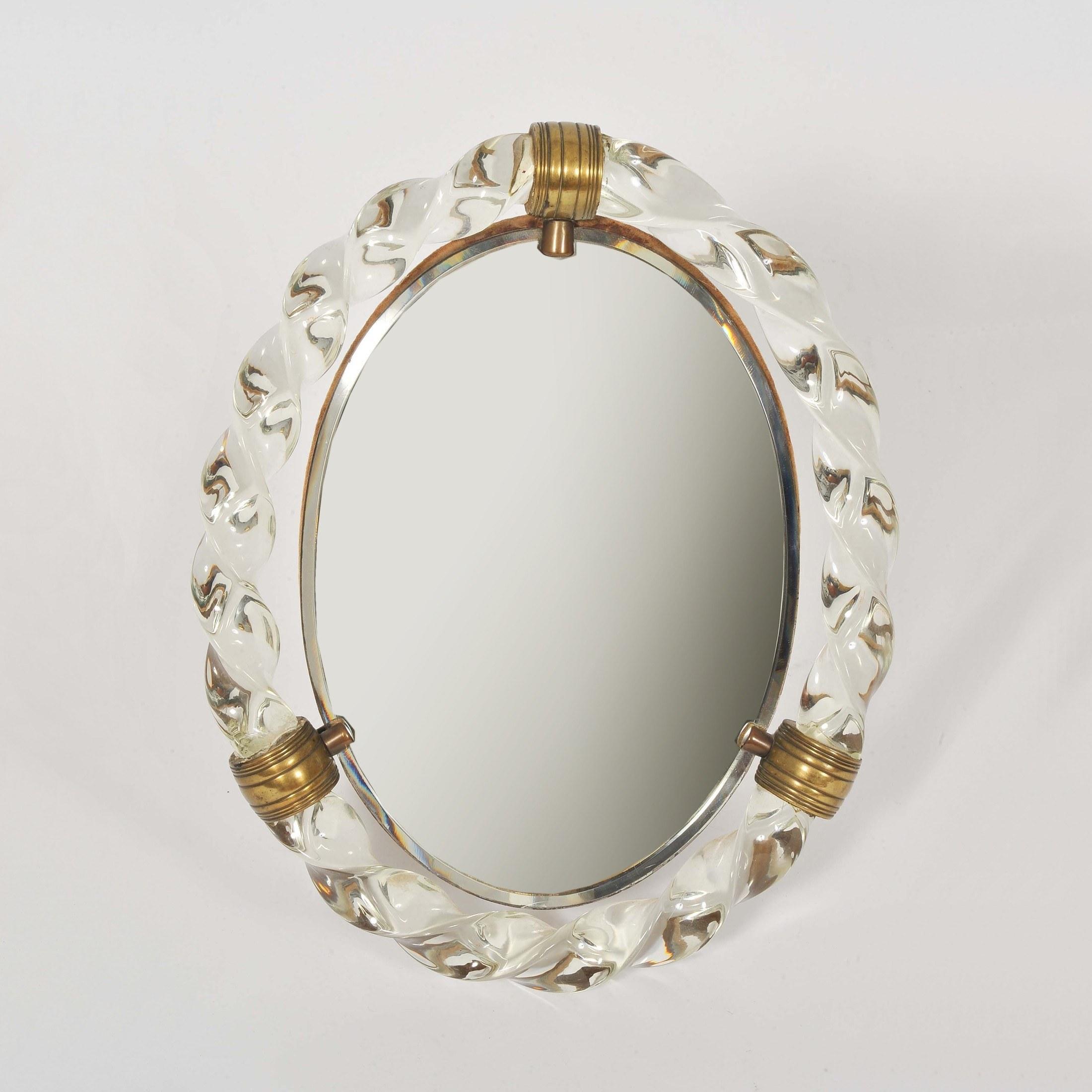 Valerie Wade Mt669 1950S Italian Oval Dressing Table Mirror 01