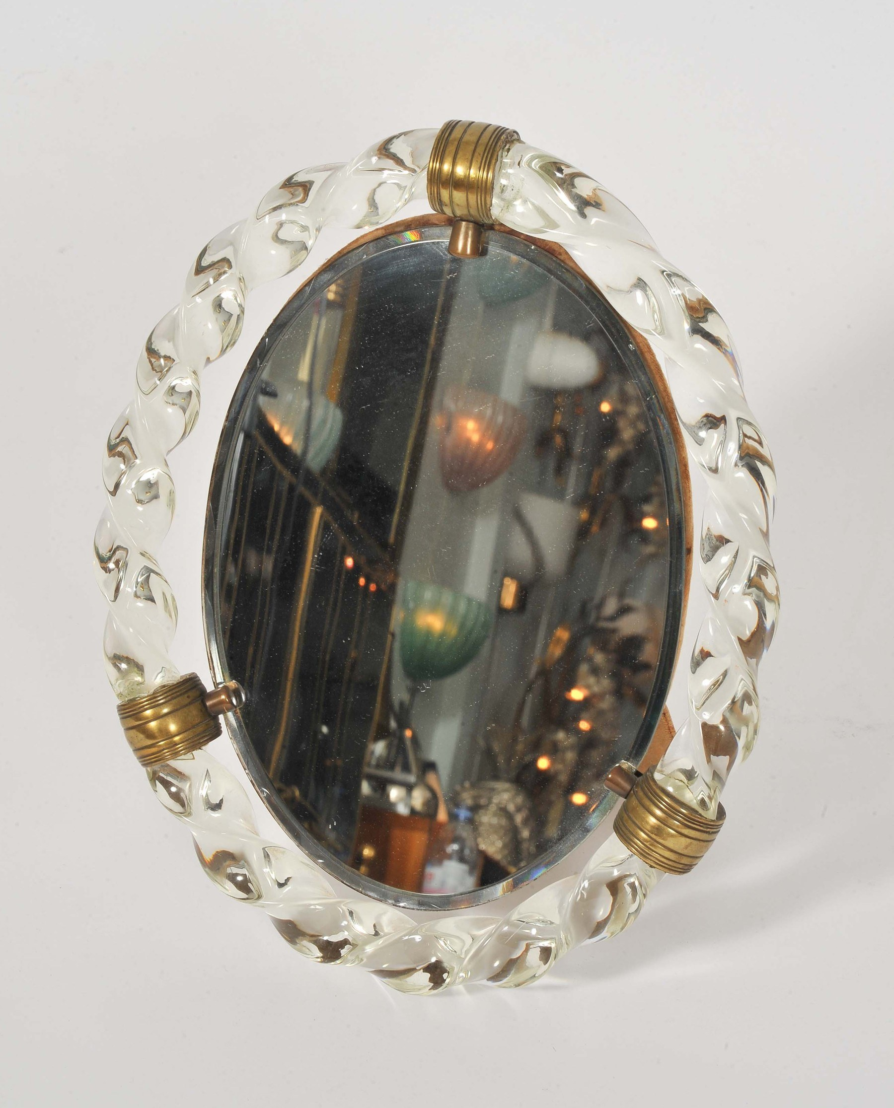 Valerie Wade Mt669 1950S Italian Oval Dressing Table Mirror 02
