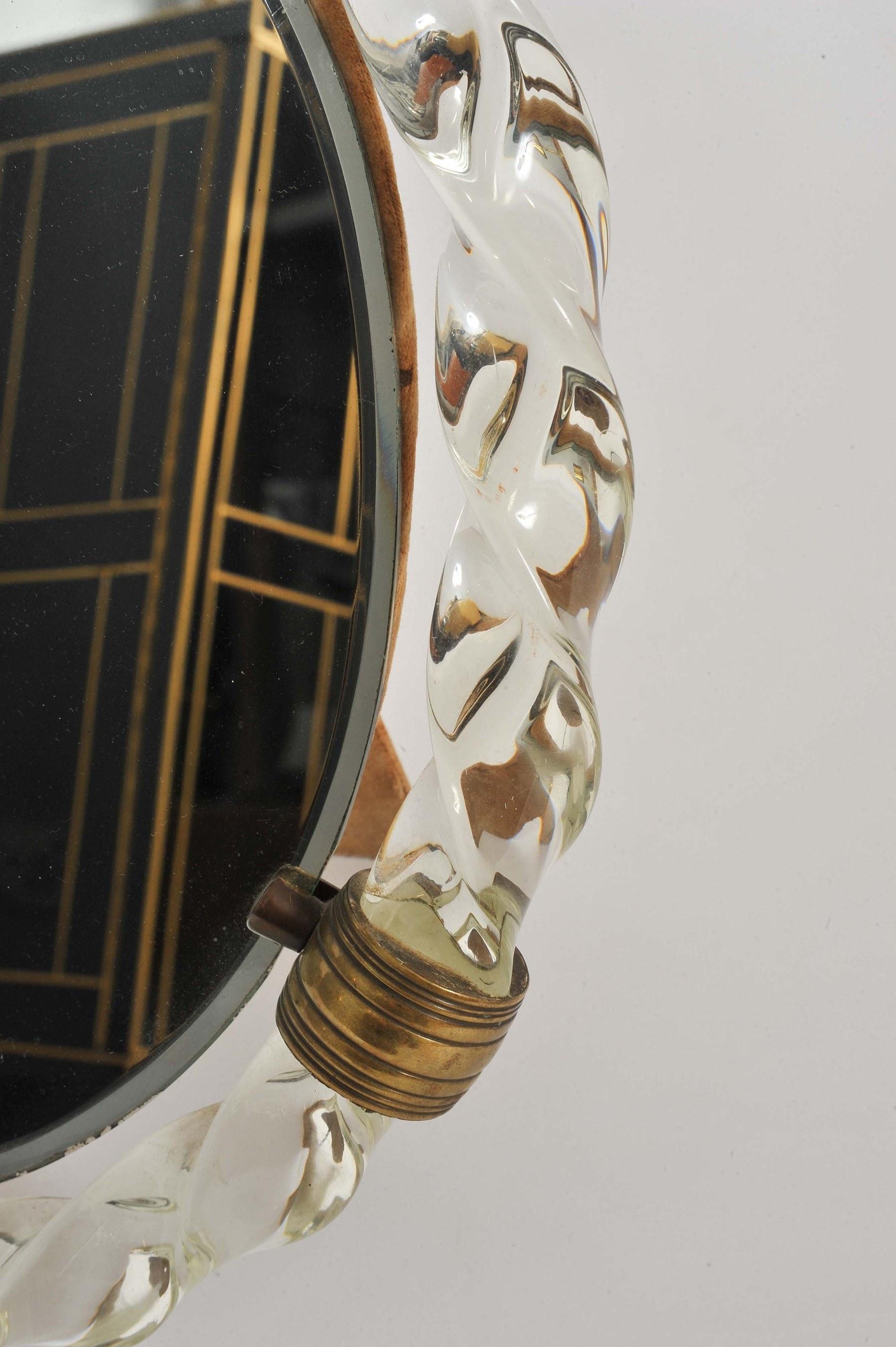 Valerie Wade Mt669 1950S Italian Oval Dressing Table Mirror 06