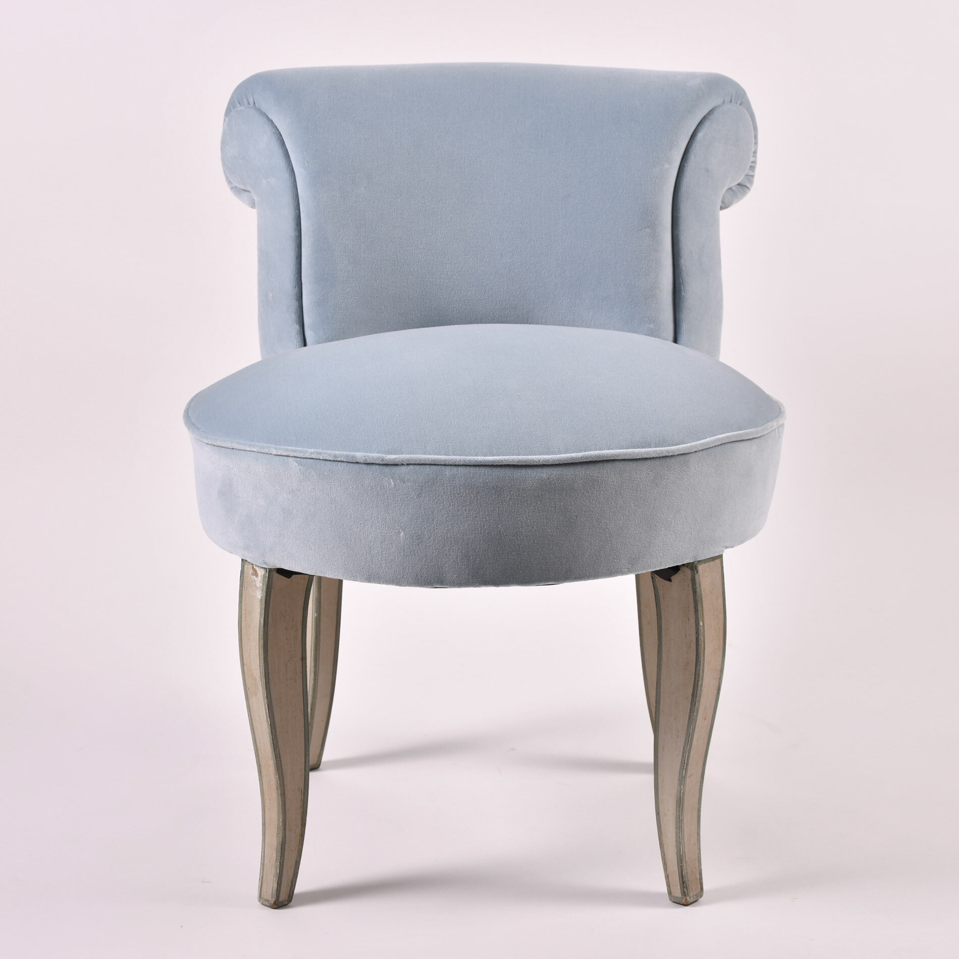 Vintage Pale Blue Dressing Chair 01